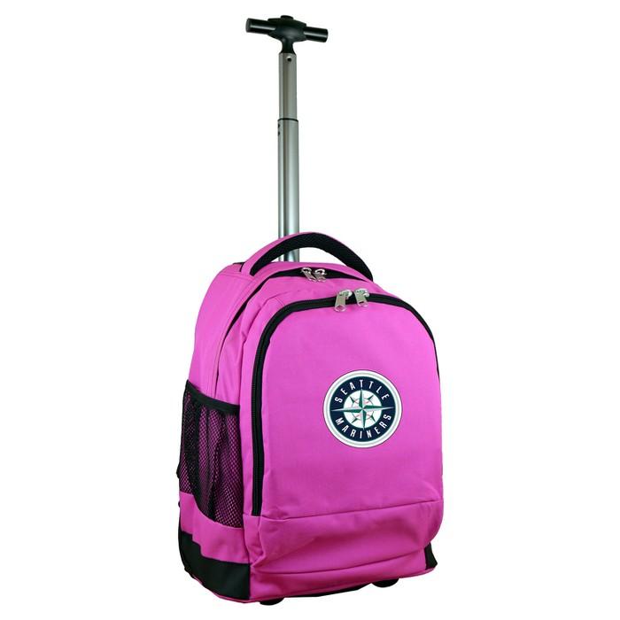MLB Seattle Mariners Premium Wheeled Backpack - Pink - image 1 of 5