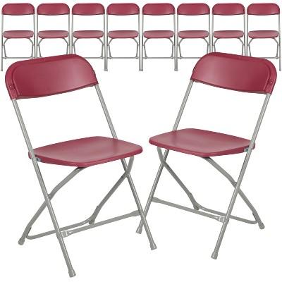 Flash Furniture Hercules™ Series Plastic Folding Chair - 10 Pack 650LB Weight Capacity