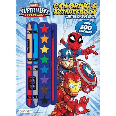 Marvel Superhero Color & Paint Book