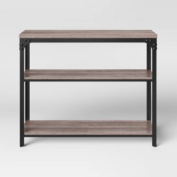 Jackman Industrial Wood 2 Shelf Console Brown - Threshold™