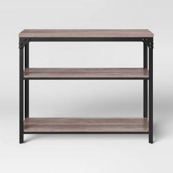 Jackman Industrial Wood 2 Shelf Console Brown - Threshold™