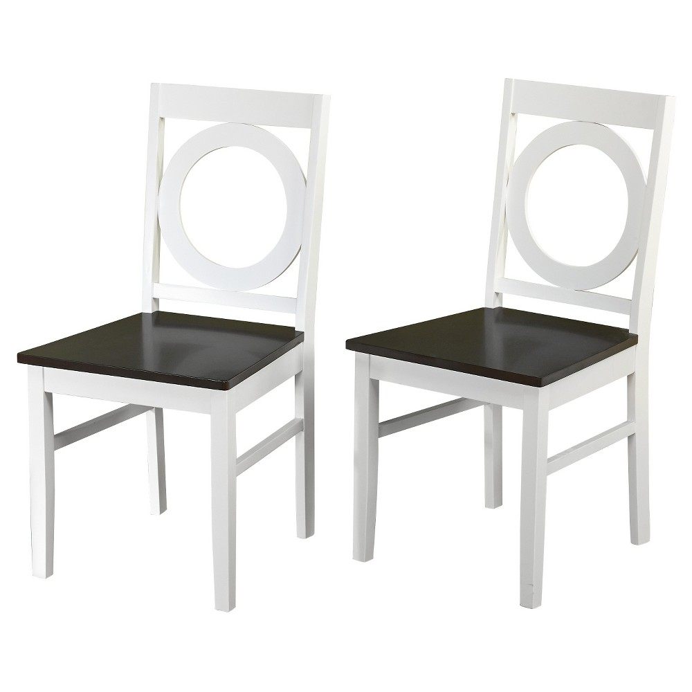 Catania Dining Chair White/Mocha Set of 2 - Tms