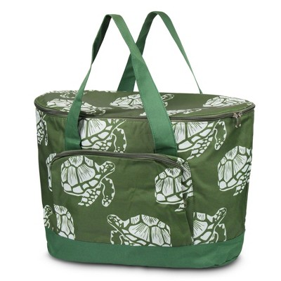 Zodaca Fashionable Large Cooler Bag, Green Turtle