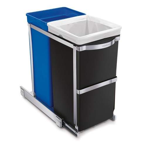 simplehuman 35L Under Counter Pull-Out Recycling Trash can, Heavy-Duty Steel Frame - image 1 of 4