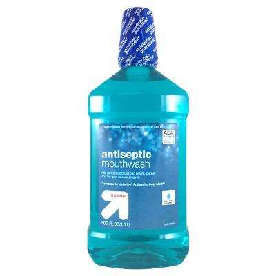 Antiseptic Mouthwash Blue Mint - 50.7 fl oz - up & up™
