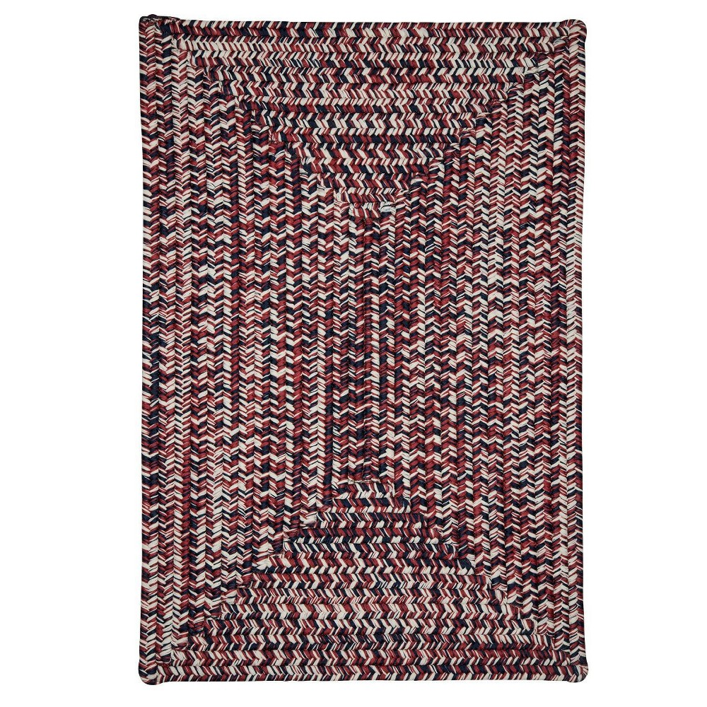 Forest Tweed Braided Area Rug Red