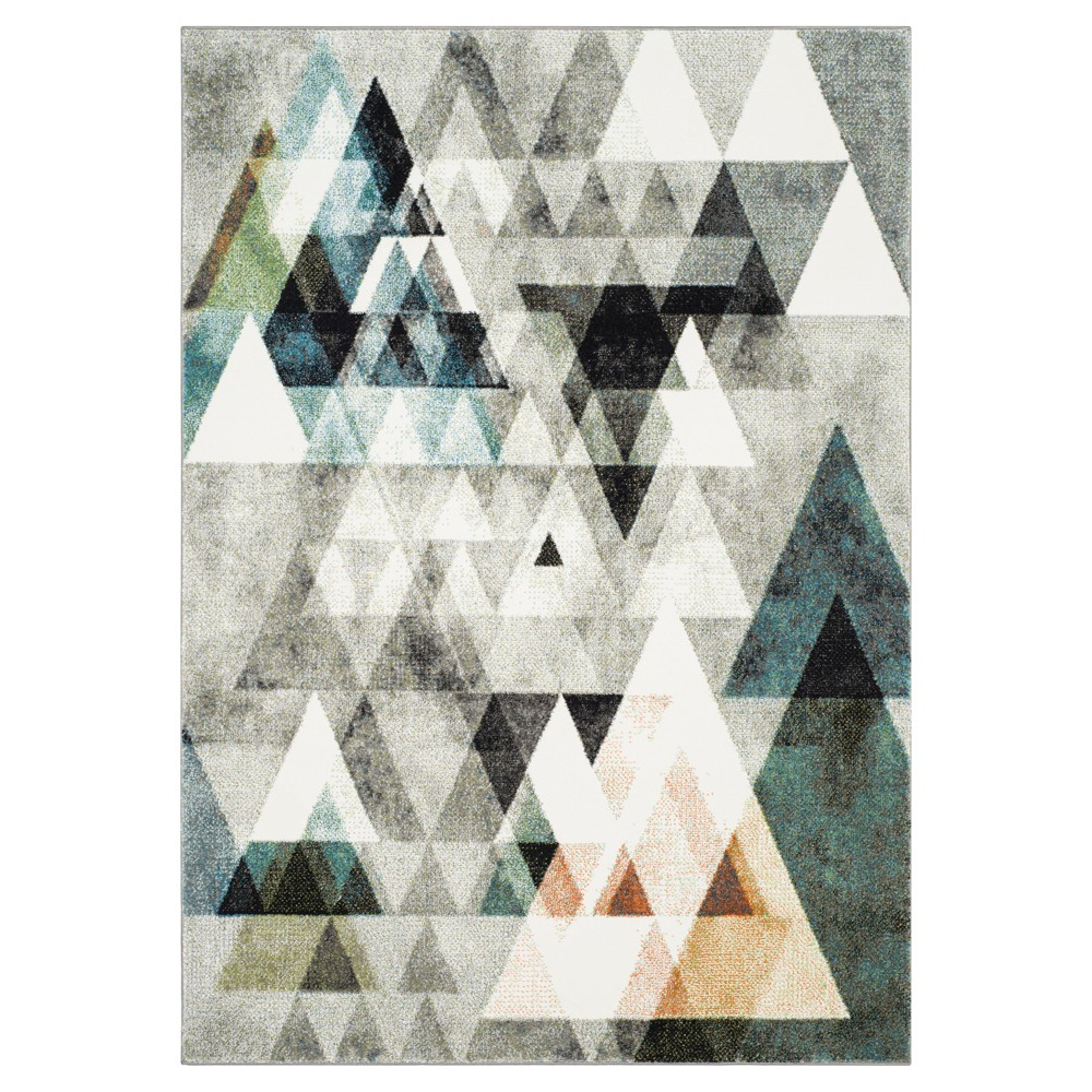 Gray/Blue Abstract Loomed Area Rug - (6'7X9') - Safavieh