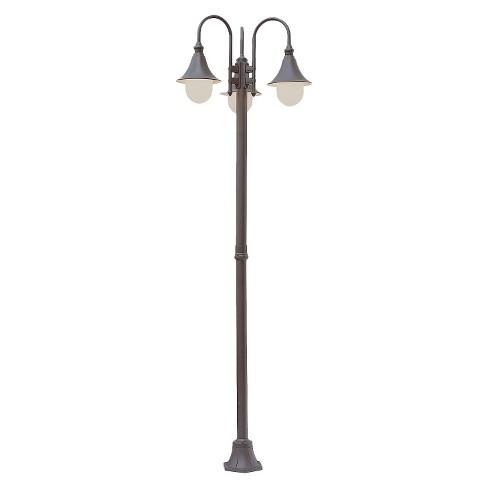 "San Juan 86"" high 3 Outdoor Lantern Lamp Post Rust - image 1 of 1"