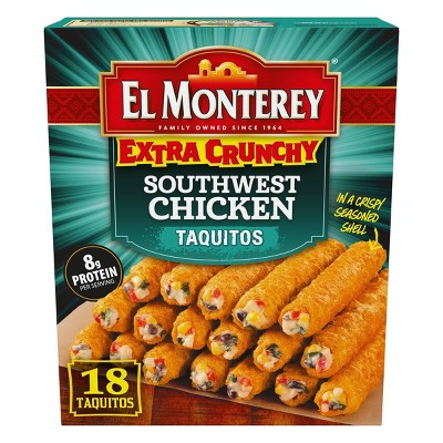 El Monterey Southwest Chicken Extra Crunchy Frozen Taquitos - 20.7oz/18ct