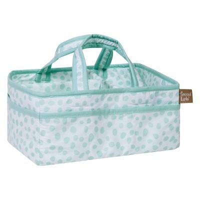 Trend Lab Diaper Caddy Polka - Dotted Aqua
