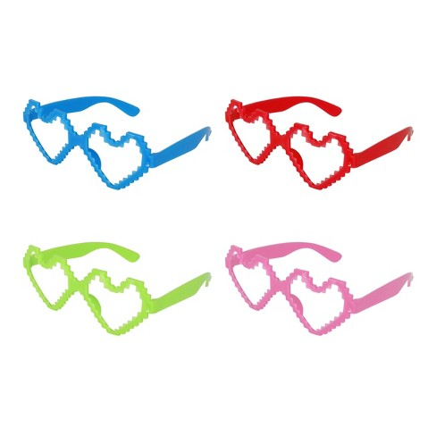 6ct Valentine's Day Heart-Shaped Glasses Party Favors - Spritz™ - image 1 of 1