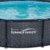 """Summer Waves 14' x 48"""" Above Ground Frame Pool Set w/ Pump, Dark Wicker - image 4 of 4"""