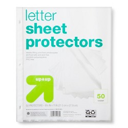 Letter Sheet Protectors Clear - Up&Up™