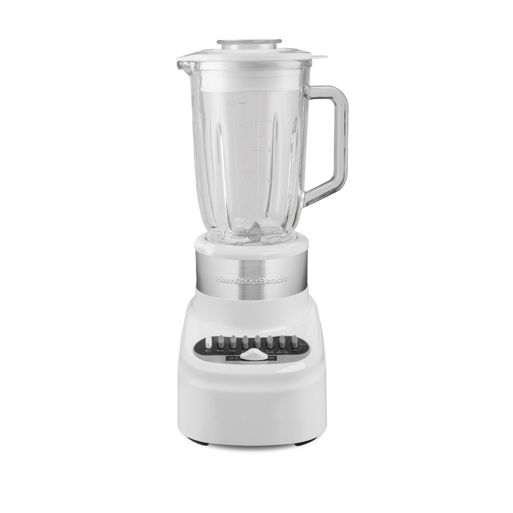 Hamilton Beach Glass Jar Blender – White 54217 53764430