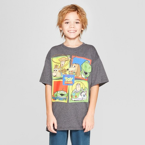 Boys' Disney Toy Story Short Sleeve Graphic T-Shirt - Charcoal Heather - image 1 of 3