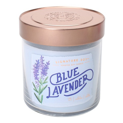 15.2oz Lidded Glass Jar 2-Wick Candle Blue Lavender - Signature Soy - image 1 of 1