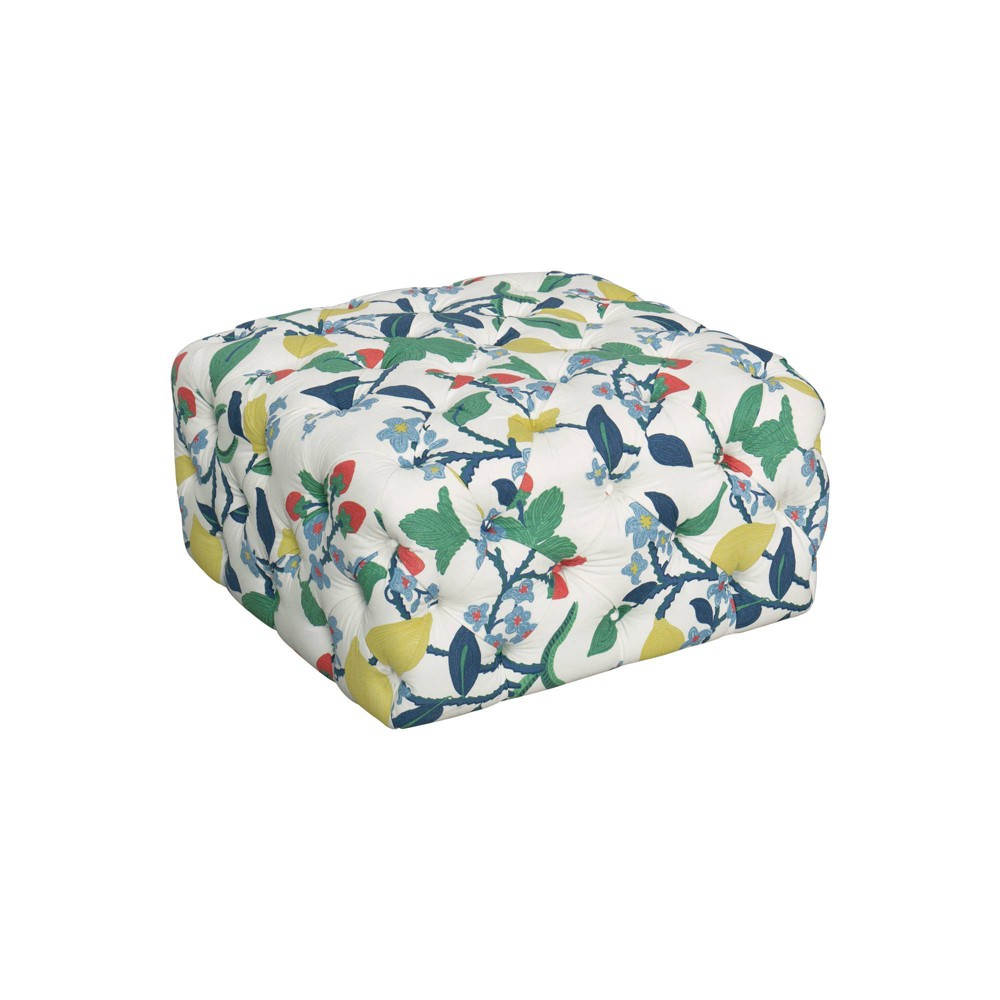 Large Square All Over Tufted Ottoman Floral - HomePop was $289.99 now $217.49 (25.0% off)