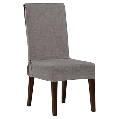 Mason Short Dining Room Chair Slipcover Gray - Sure Fit