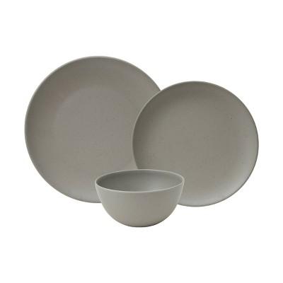 12pc Melamine Bryce Dinnerware Set Gray - 222 Fifth