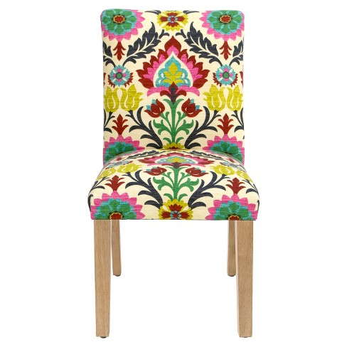 Parsons Dining Chair Santa Maria Desert Flower With Natural Legs