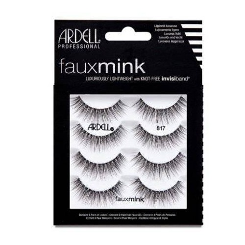 Ardell Eyelash Faux Mink 817 Black - 4pc