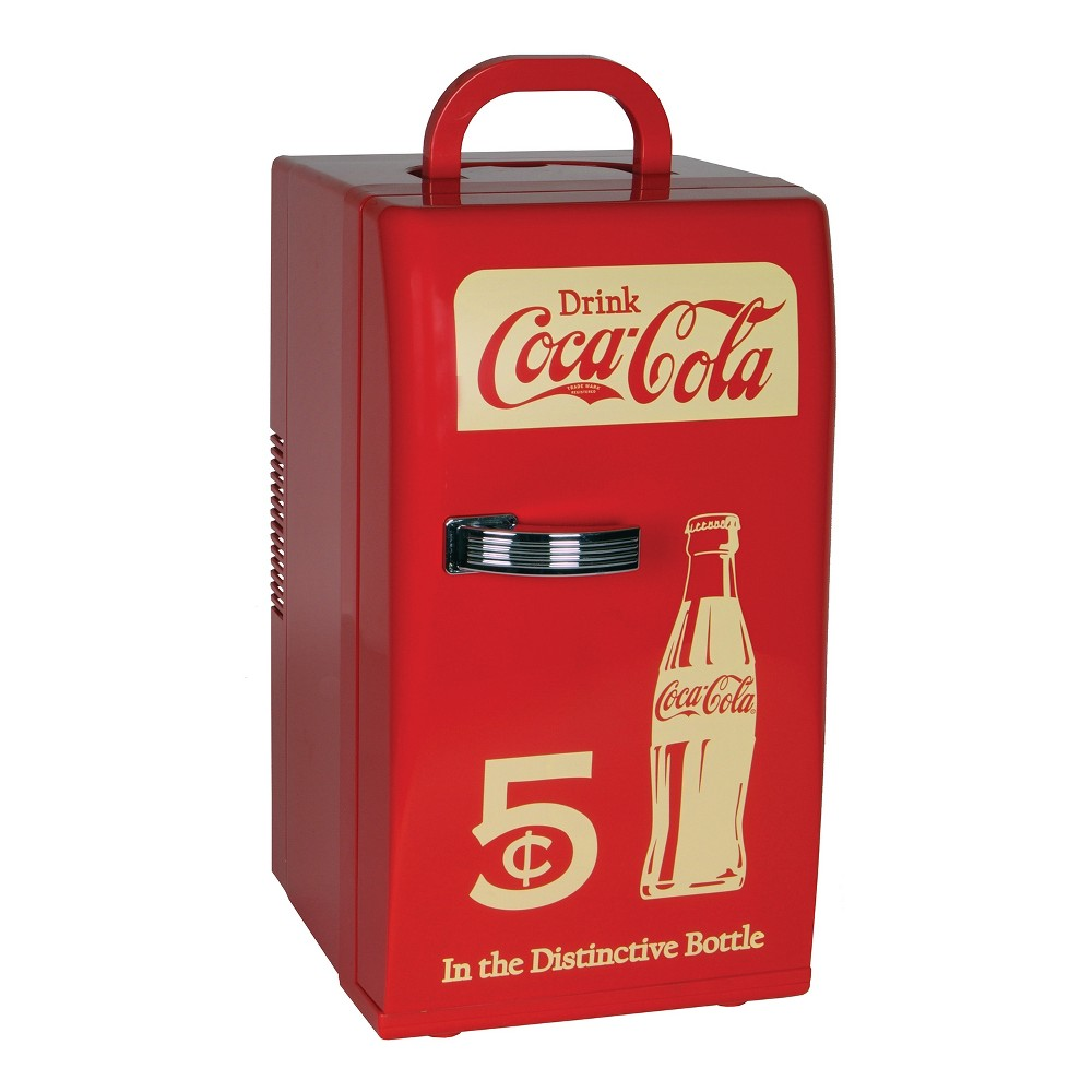 Image of Coca-Cola Compact 16 can capacity Retro Cooler - Red CCR12