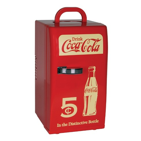 Coca-Cola Compact 16 can capacity Retro Cooler - Red CCR12 - image 1 of 2