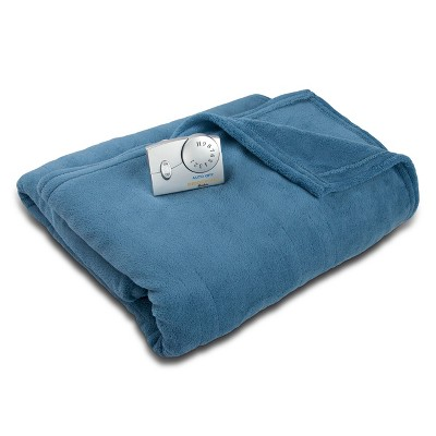 Microplush Electric Heated Blanket (Queen)Blue - Biddeford Blankets