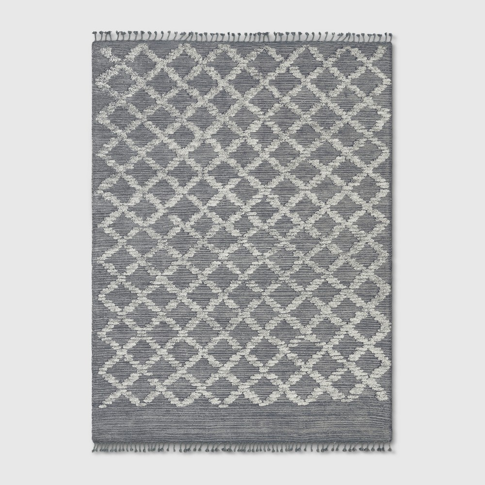 9'x12' Tie Dye Design Woven Area Rug Gray - Project 62