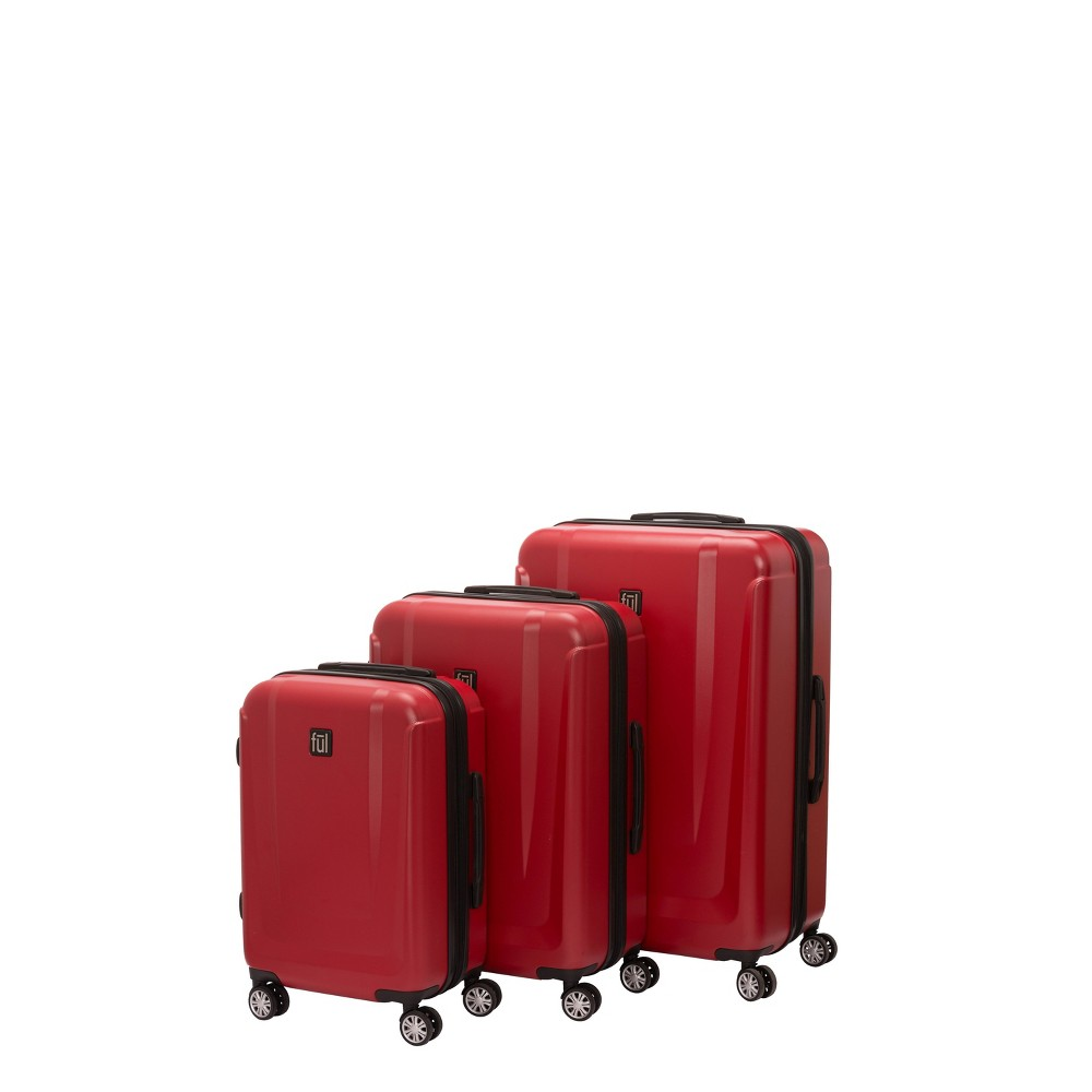Ful 3pc Load Rider Hardside Luggage Set - Red