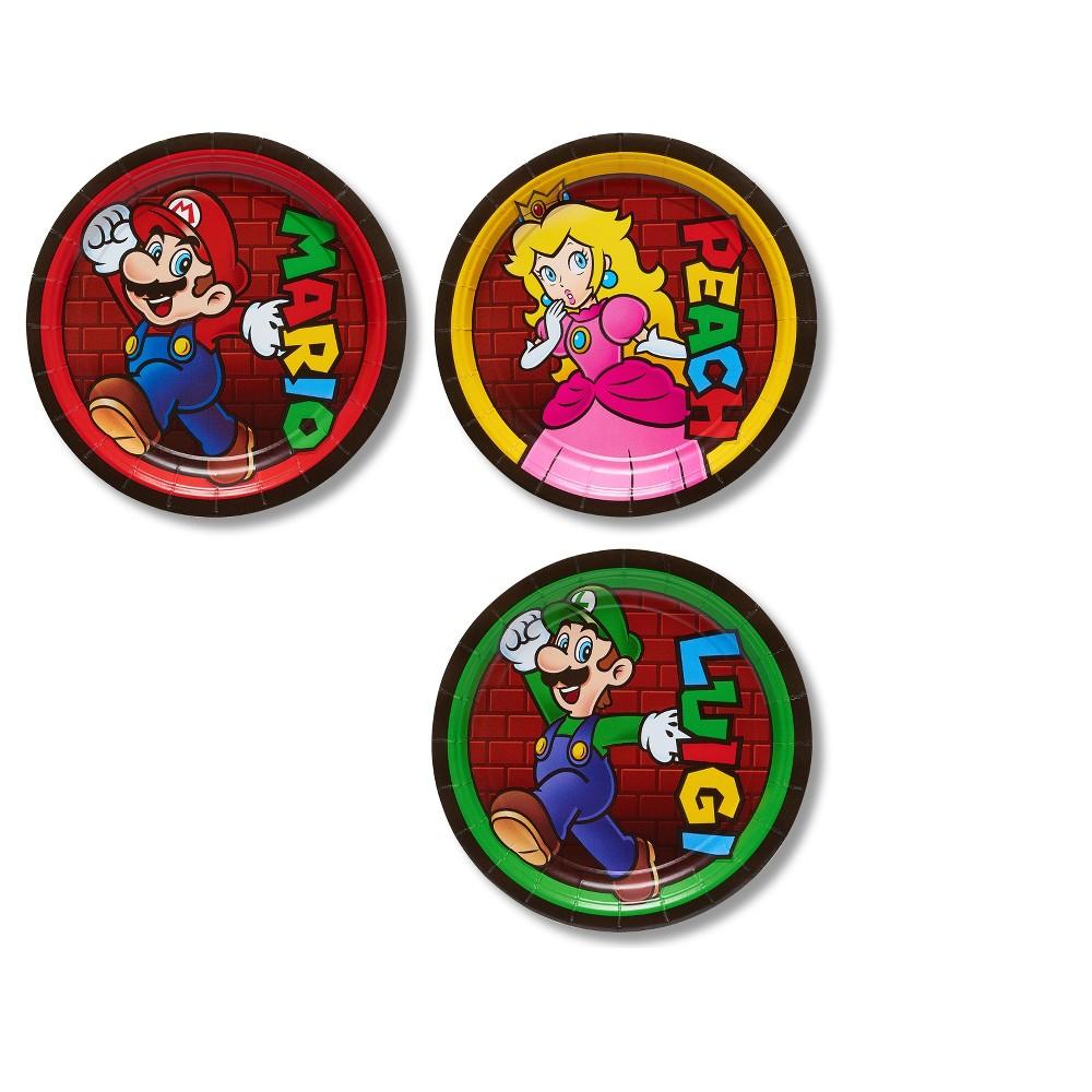 """Image of """"Super Mario Bros 7"""""""" Paper Plates - 8ct"""""""