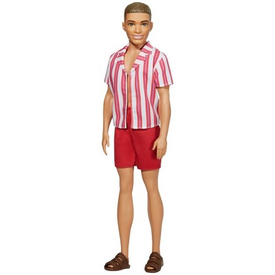 Barbie Ken 60th Anniversary Doll - Throwback Beach Look Swimsuit & Sandals