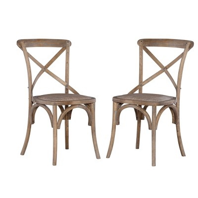 Set of Two Bentwood Chairs Gray - Linon