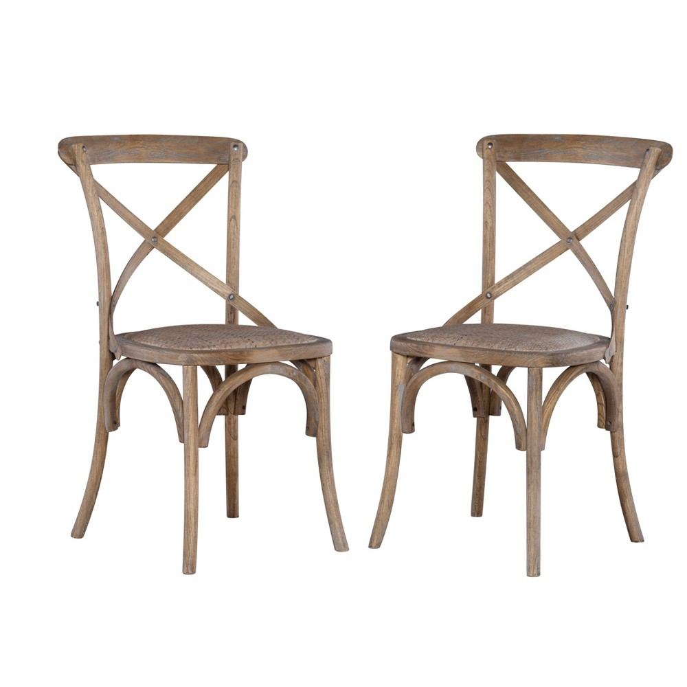 Set Of Two Bentwood Chairs Gray Linon