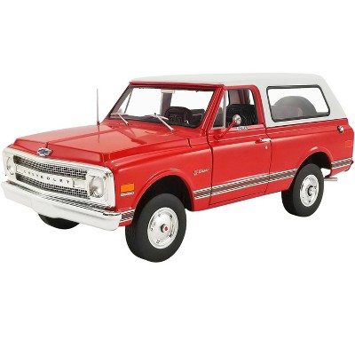 1969 Chevrolet K5 Blazer Orange Red with White Top Limited Edition to 1452 pieces Worldwide 1/18 Diecast Model Car by ACME