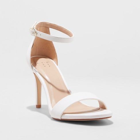 0545c5b07711 Women s Myla Stiletto Heeled Pump Sandal - A New Day™ White 8.5   Target