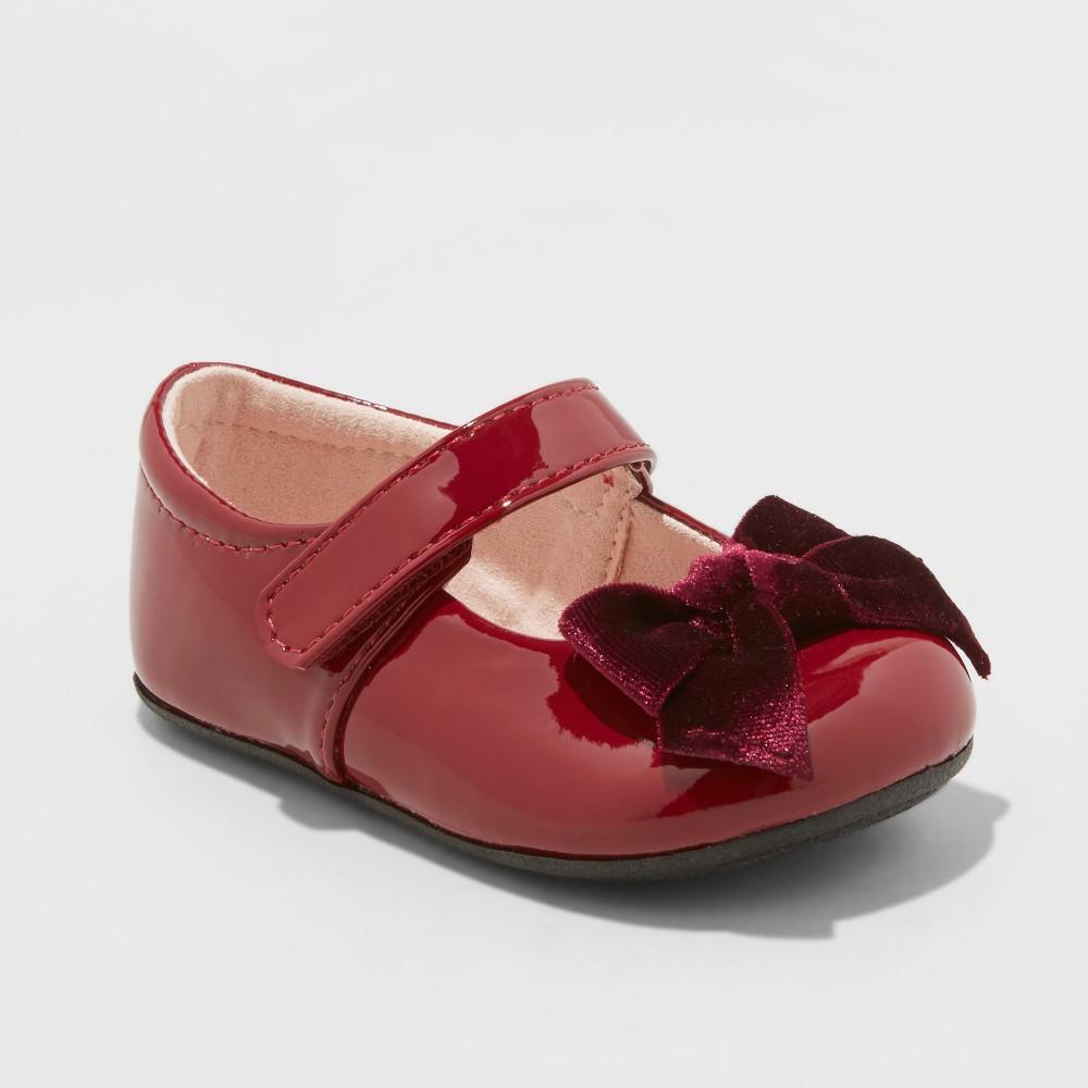 Infant Girls' Dayja Ballet Flats - Cat & Jack Red 5