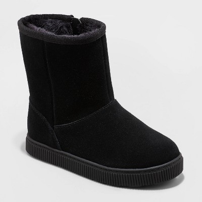 Toddler Girls' Cassidy Zipper Slip-On Shearling Style Winter Boots - Cat & Jack™