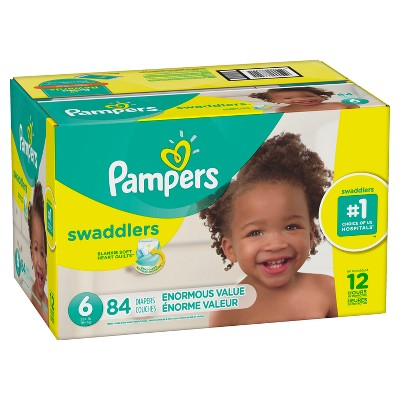 Pampers Swaddlers Disposable Diapers Enormous Pack - Size 6 (84ct )
