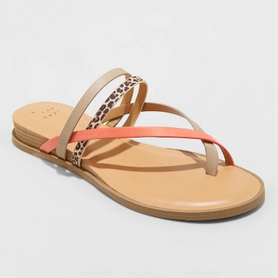 Women's Jasmine Strappy Sliver Wedge Sandals - A New Day™