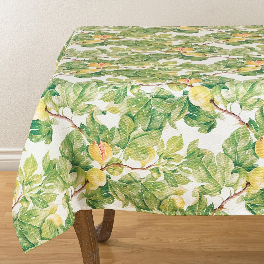 Fresh Fig Tablecloths, Table Runners And Table Throws 58 Green Heather - Saro Lifestyle, Fig Green Heather