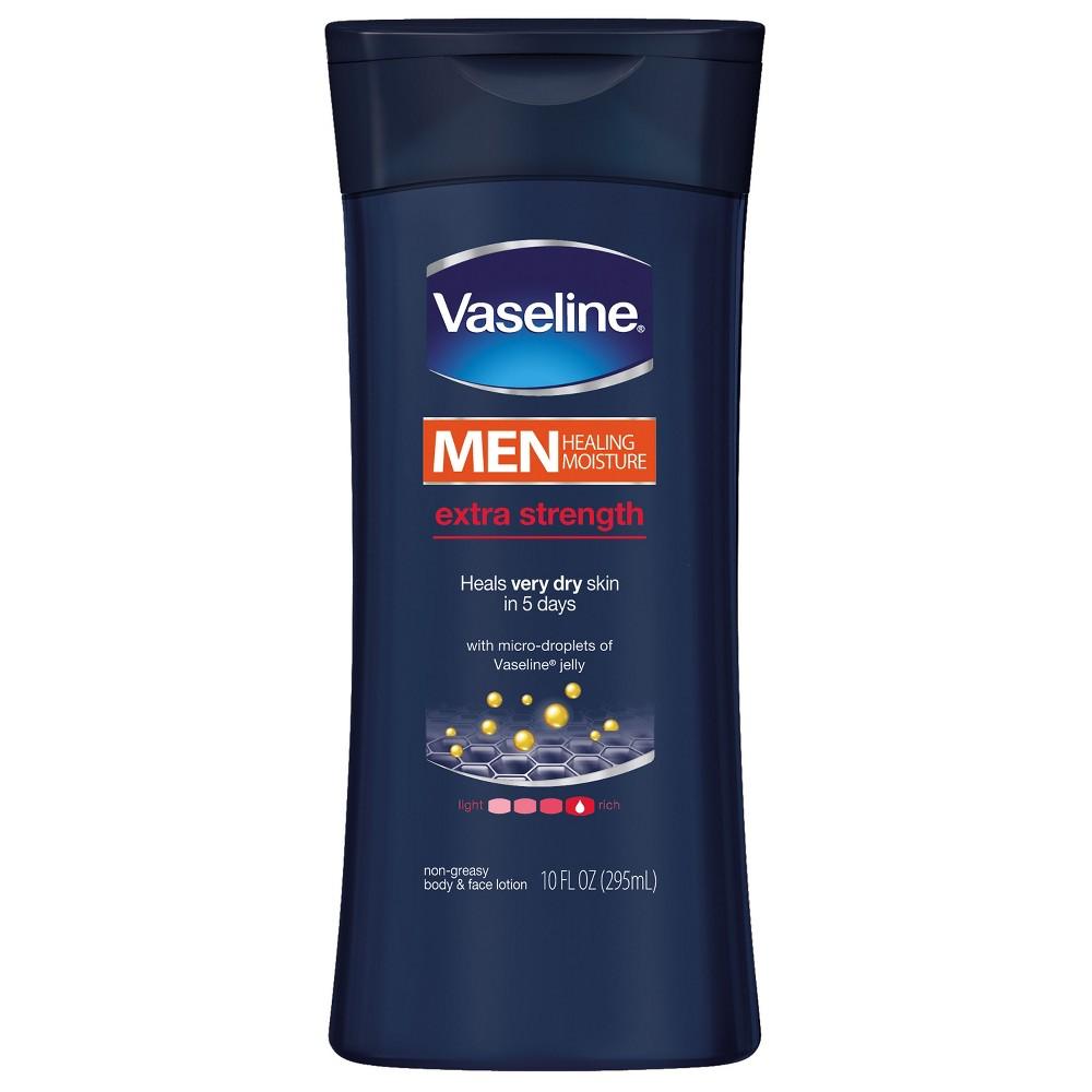 Vaseline Men Healing Moisture Extra Strength Body & Face Lotion 10 oz