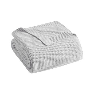 King Bree Knit Bed Blanket Gray