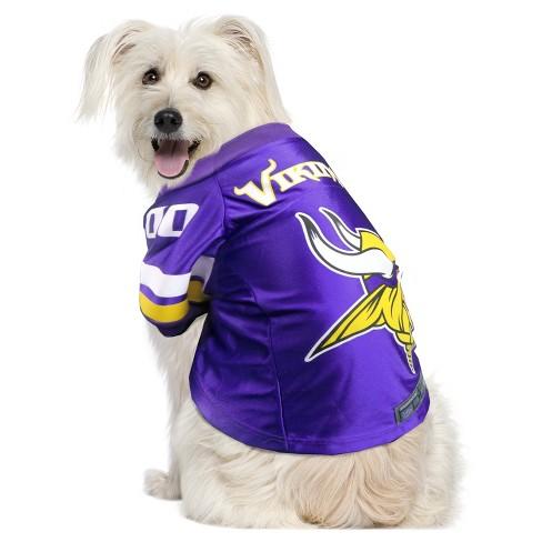 big sale 023bf c143e NFL Minnesota Vikings Little Earth Pet Premium Football Jersey - Purple L