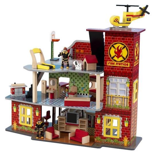 KidKraft Deluxe Fire Station Set image number null