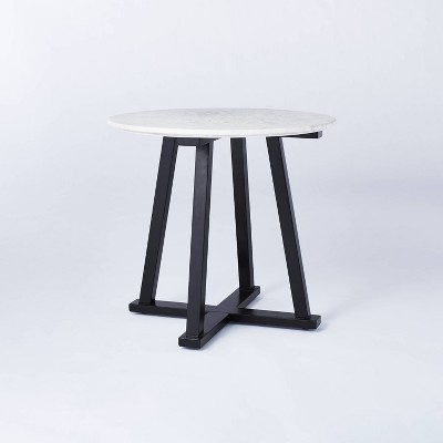 Round Marble Accent Table White/Black - Threshold™ designed with Studio McGee