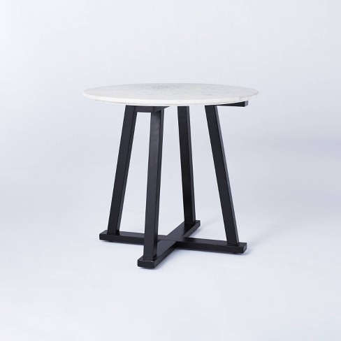 Round Marble Accent Table White/Black - Threshold™ designed with Studio McGee - image 1 of 4