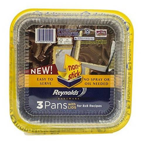 Reynolds Disposable Bakeware Non Stick Pans With Lids