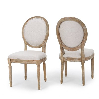 Set of 2 Phinnaeus Dining Chair Beige - Christopher Knight Home