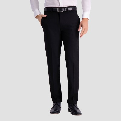 Haggar H26 Men's Slim Fit Premium Stretch Suit Pants - Black
